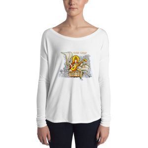 Ladie's' Long sleeve Sarasvati Shirt white