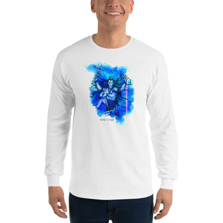 Men's Long Sleeve Shiva Shirt White