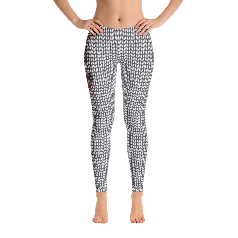 Leggings with Knitted print front