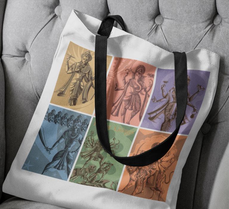 Tote Bag Printed Deity